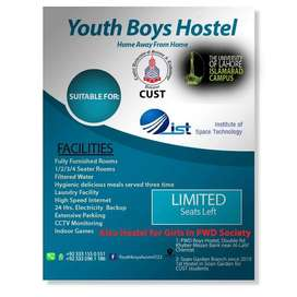 PWD Youth Boys Hostel for jobians bahria town and students