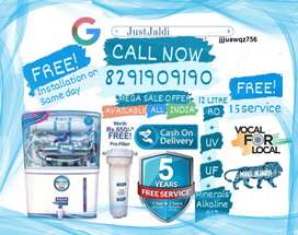 jjjuawqz756 RO Water Purifier Water Filter Water Tank TV DTH.  Free De