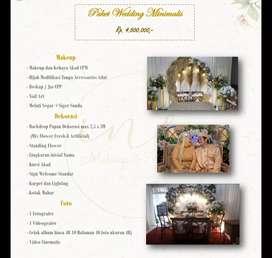 Paket Pernikahan / Wedding/ Akad Nikah Minimalis Makeup+Dekorasi+Foto