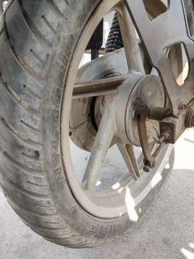 Pulser front and rear aloy wheel with tyre