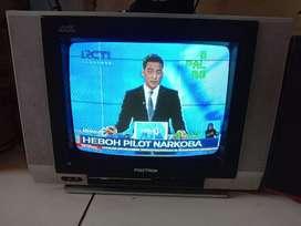 Tv tabung 14in merk polytron normal