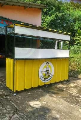 Booth portable Gerobak bongkar pasang / stand lipat