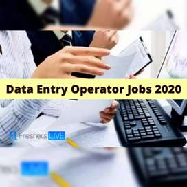 Need data entry operator for back office executive