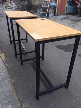Meja kantor / meja belajar 80x48cm kaki besi , harga paling murah