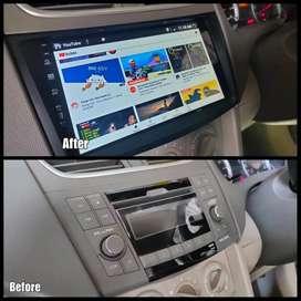 Before After- Headunit Android Suzuki Ertiga Lengkap Maps YouTube Spot