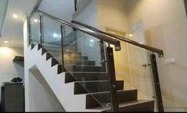 Balkon Stainles steel kaca minimalis $1083