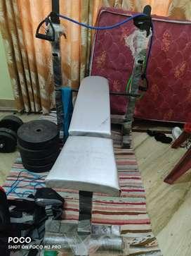 Bench+80kg weights