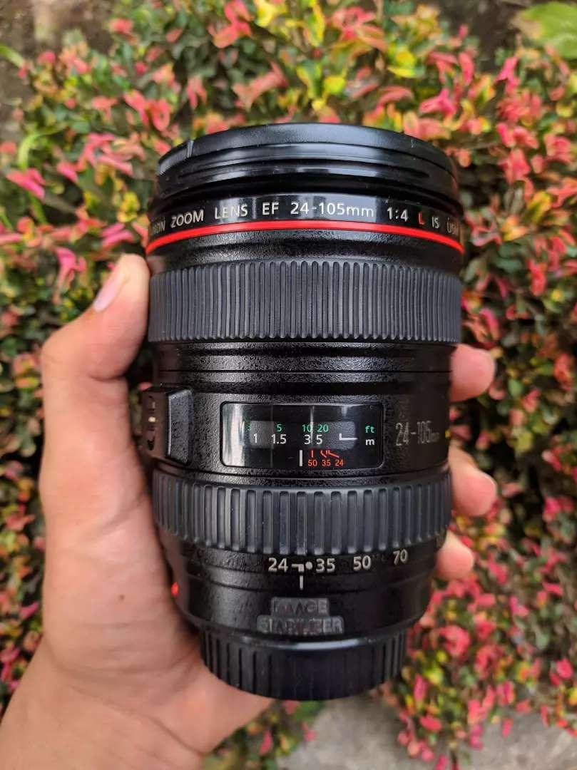 Lensa canon 24-105mm f4L is usm mulus 0