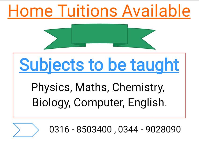 Home tuitions in Hayat Abad Peshawar 0