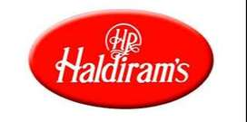 We are hiring for the candidates for various position in Haldiram