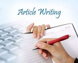 Article writing jobs available