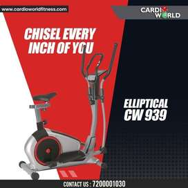 Elliptical with attractive Red colour for 125 kg user weight