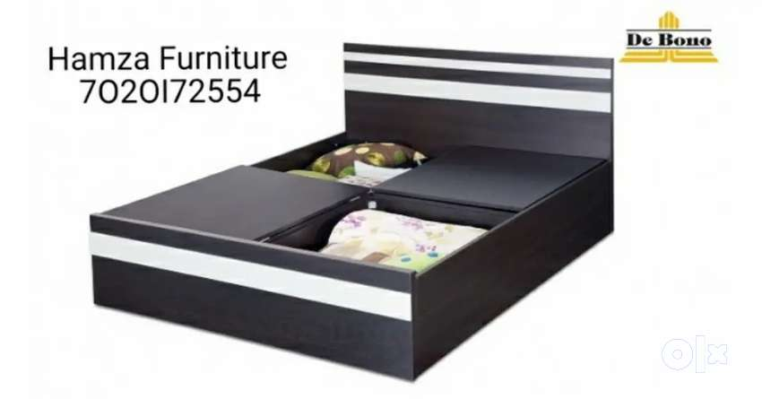Hamza Furniture Queen Size Bed with storage box 0