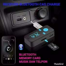 Bluetooth receiver musik audio X6 with slot memory