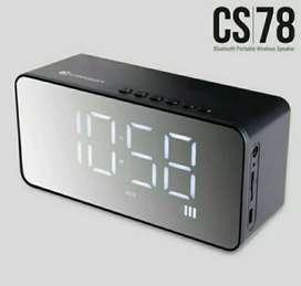 Comson CS78 speaker portable bluetooth dengan alarm dan jam digital SF