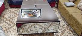 Center table size 3/5 small table 1.5/1.5 feet looking glass 5mm