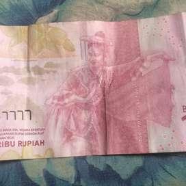 Uang no seri cantik