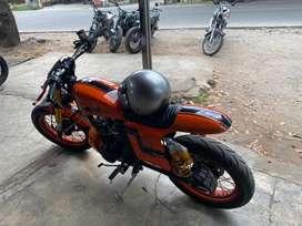 Kawasaki W175 modif flat tracker