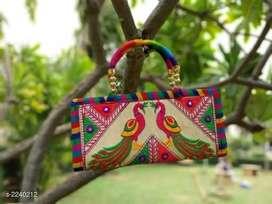 Kutchian trendy silk women purse