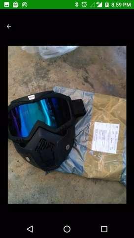 Taffsport Kacamata Google mask /modificatif helm retro