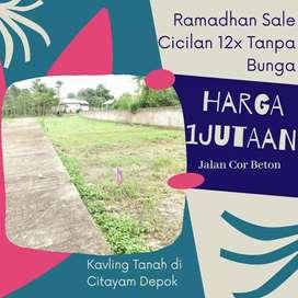 Ramadhan Sale Kapling 1Jutaan SHM di Citayam Depok Siap Bangun
