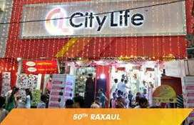 Apply for job in city life mall and call for appointment.