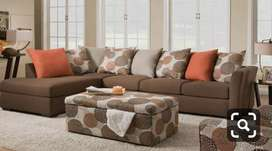 Brown Sectional L shape sofa with 5 years of warranty