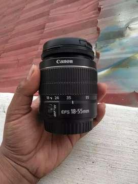 lensa kit canon 18-55mm iii mulus