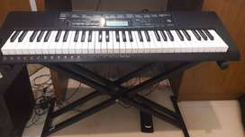 casio ctk 3500 with stand, pedel, cover, dust protector