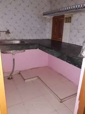 one ,one kitchen and one attached washroom