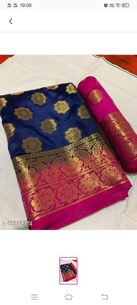 Saree Fabric: Silk Blouse: Running BlouseFabric:Silk Multipack:Single