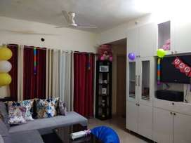 1bhk with ultimate kitchen, hall with woodwrk, 2 bathrooms & 2 balcony