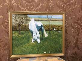 UK imported Antique Horse Oil Painting