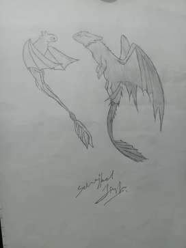 Sketch dragon