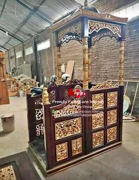 Mimbar masjid pengrajin jepara