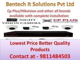 CCTV camera installation Hikvision Cp plus and door lock all brands