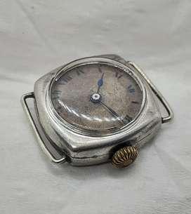 Rare No Brand Roman Dial Ladies Tranch Watch Silver Case 1000 JW 00-20
