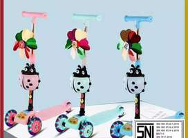 Mainan Anak Scooter Kumbang Roda 3 Portable Bisa Dilipat