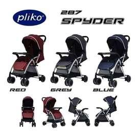 Stroller Pliko Spyder Stroler Anak Bayi kereta Dorong Bayi Murah