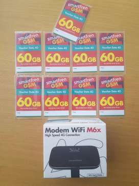 Modem WiFi M6x 4G + 9 voucher 60gb