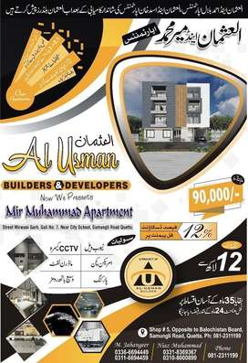 Flat for sale at jinnah town pvt land