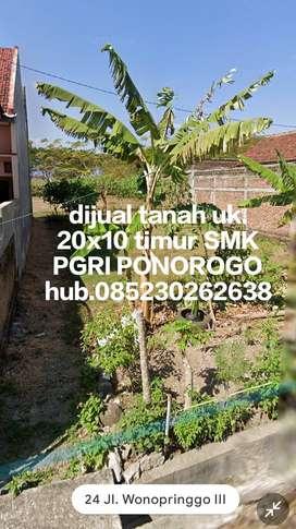 Dijual tanah timur SMK PGRI PONOROGO 20x10m.