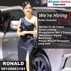 Lowongan Sales Counter Toyota Khusus Wanita