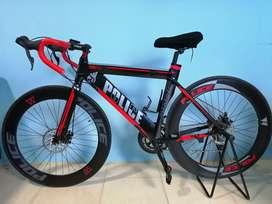 sepeda balap roadbike police 911 warna hitam