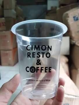 Cetak sablon gelas plastik berkualitas CUP PET 12oz⁷
