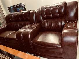 Brown sofa beats back leather