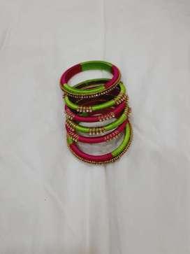 Silk thread designer bangles