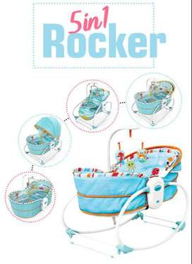 Mastela 5 in 1 Rocker Bassinet Baby Swing
