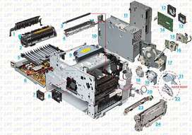 Hp 4345 All Parts Available
