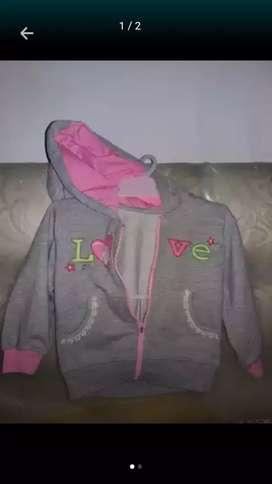Jaket bayi perempuan utk anak usia 6-18bulan
